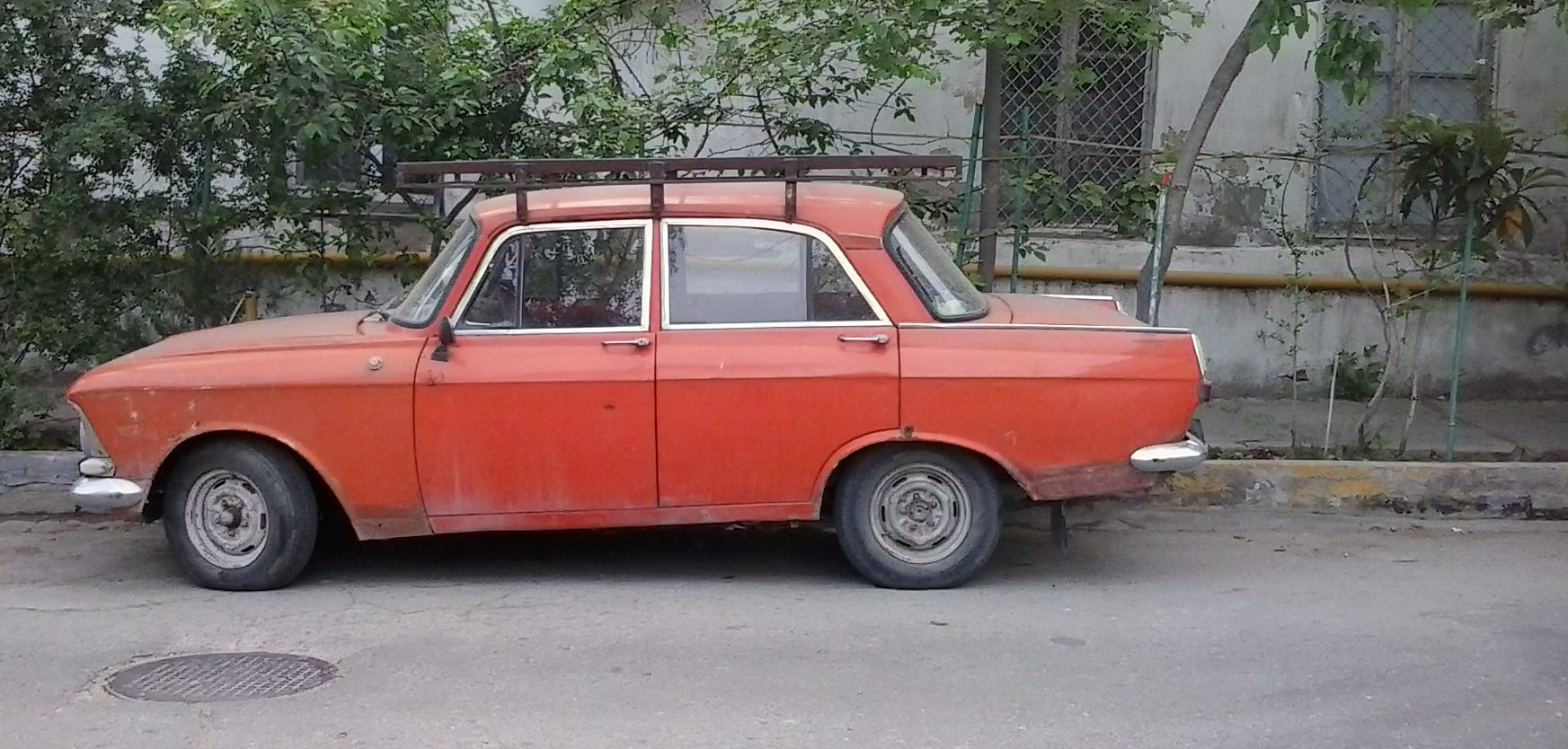 old red car