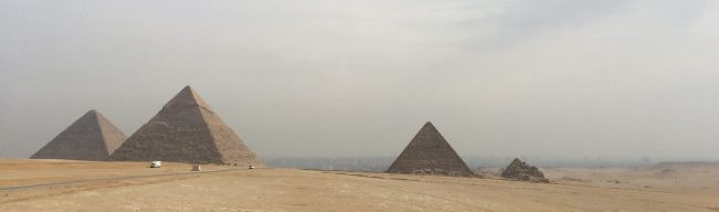 pyramids on the horizon