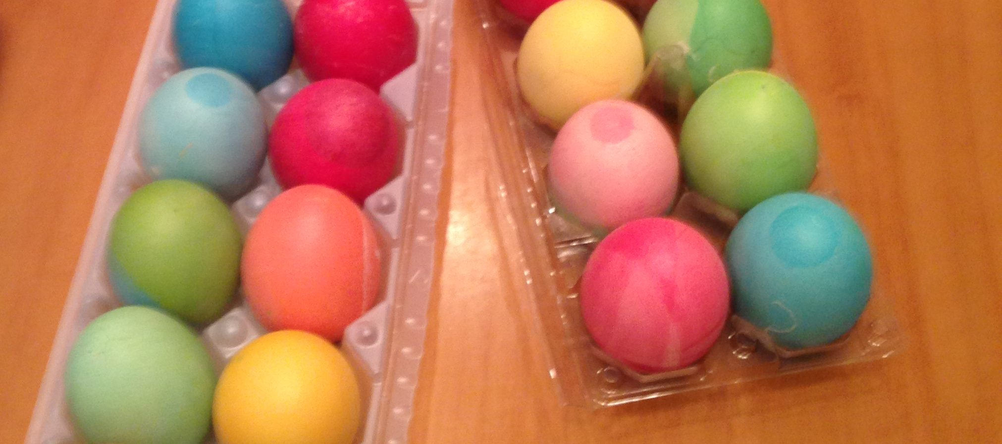 photo of dyed easter eggs