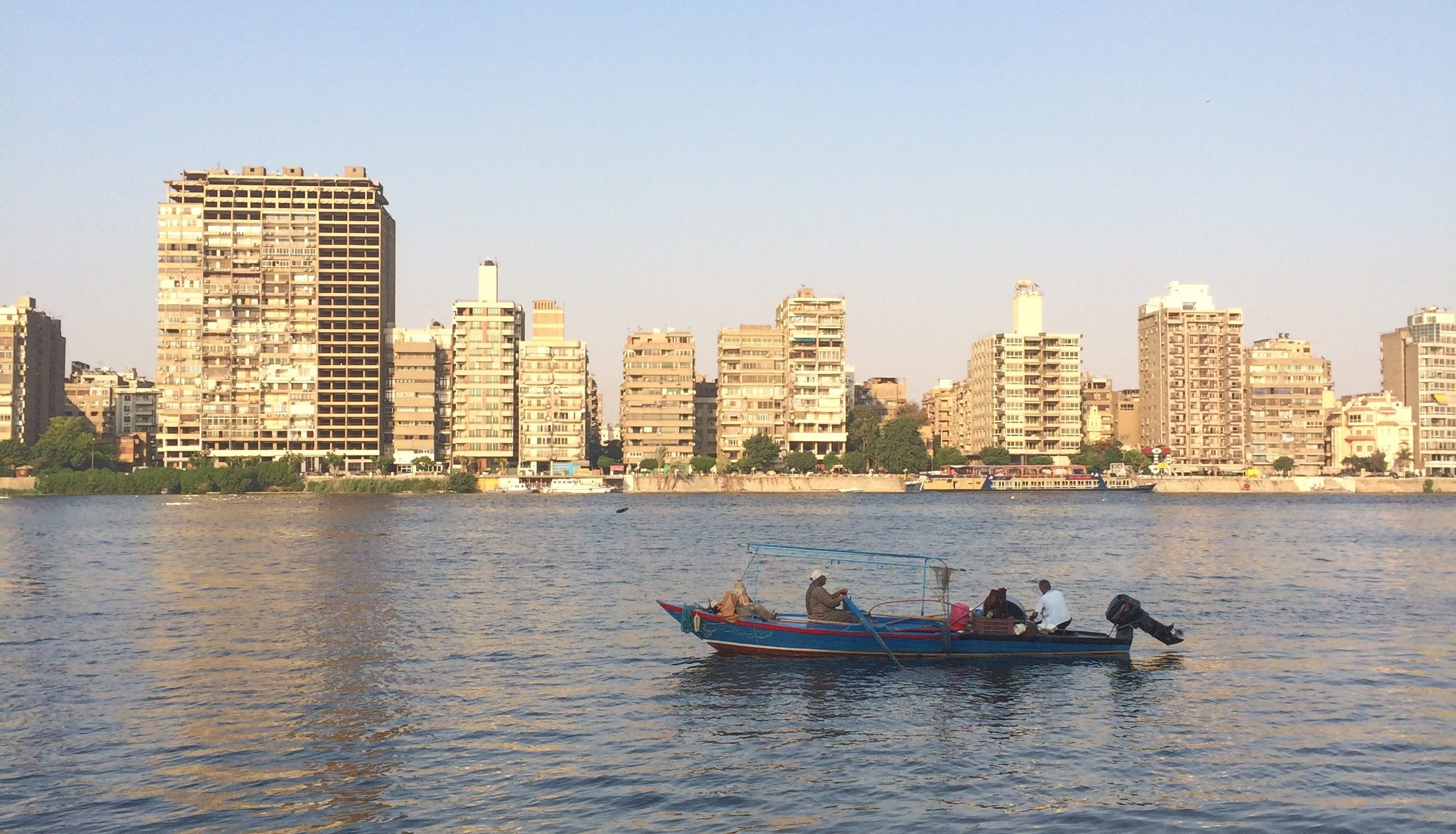 a boat on the Nile