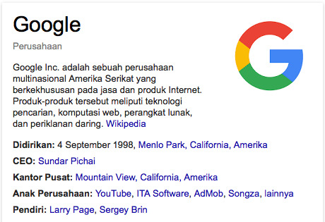 manfaat mesin pencarian Google