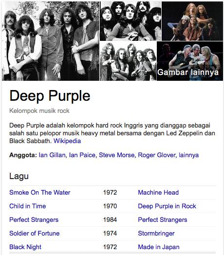 Deep Purple daftar grup band rock terkenal seluruh dunia