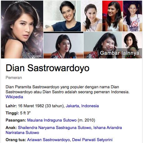Dian Sastrowardoyo DAFTAR ARTIS TERKAYA DI INDONESIA 2016
