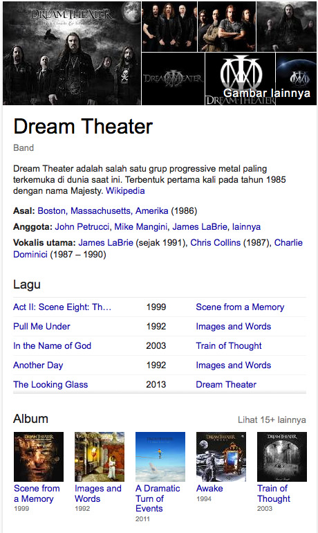 Dream Theater band terfavorit di dunia