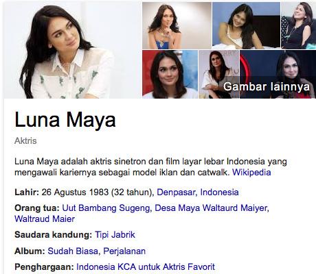 Luna Maya bukan siapa artis terkaya di malaysia