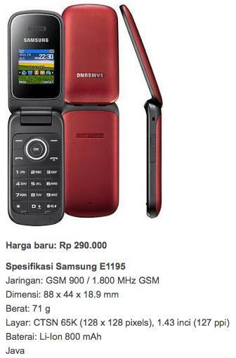 Samsung E1195 hp harga 400 ribuan kebawah