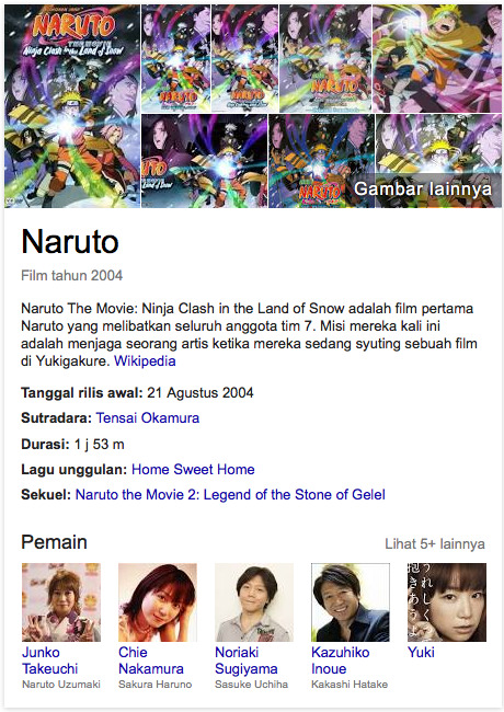 Naruto The Movie Ninja Clash in the Land of Snow