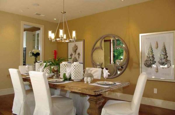 Ide Warna Cat Dinding Interior Dapur dan ruang Makan pada Desain Rumah Minimalis