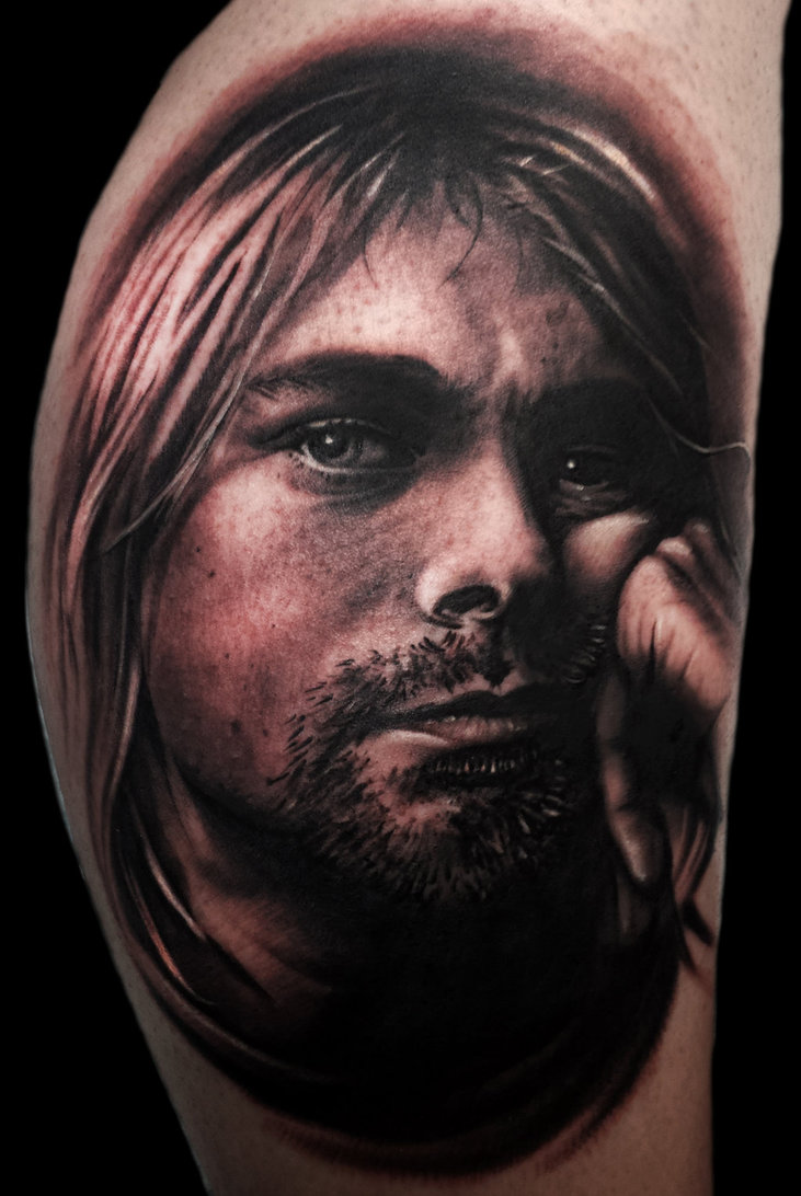 Best 45 Kurt Cobain Fan Tattoos  NSF  Music Magazine