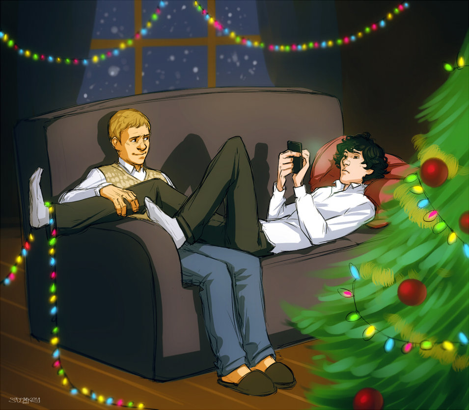 Very Cute Lovely Wallpapers 20 Lovely Sherlock Christmas Images And Gifs Nsf