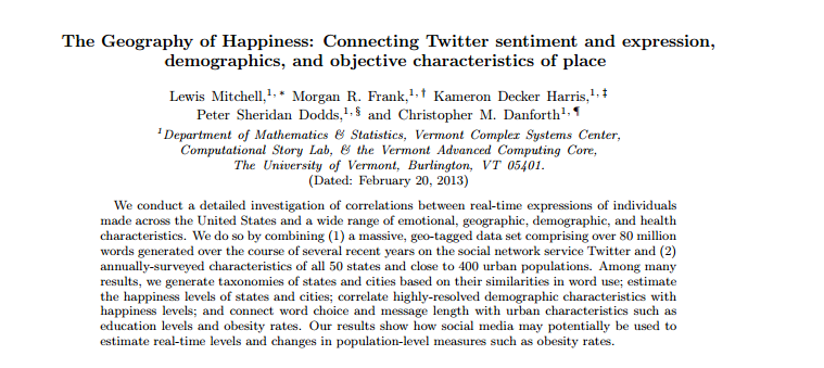 The Geography Of Happiness According To 10 Million Tweets Is Flawed