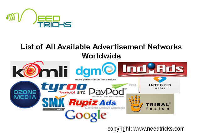 list of ad networks
