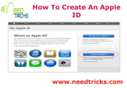 How To Create An Apple ID