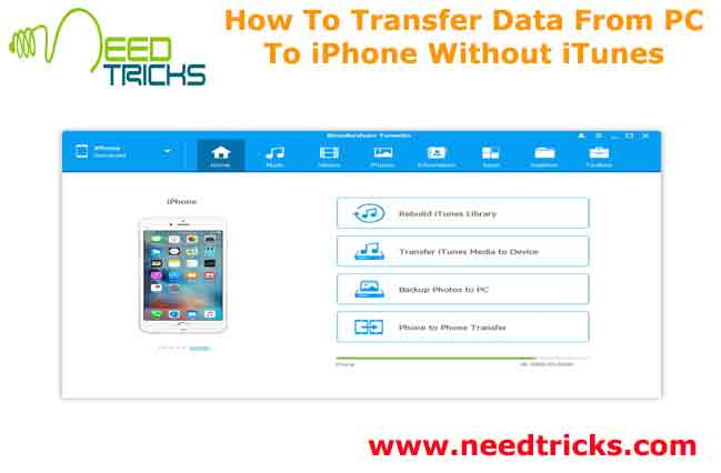 How To Transfer Data From PC To iPhone Without iTunes