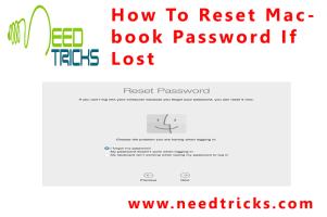 How To Reset Macbook Password If Lost