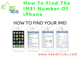 How To Find The IMEI Number Of iPhone
