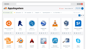 AppsAnywhere User Interface