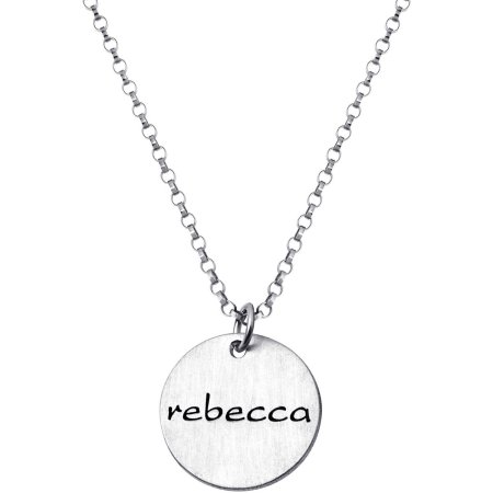 Personalized Kids' Sterling Silver Engraved Name Disc
