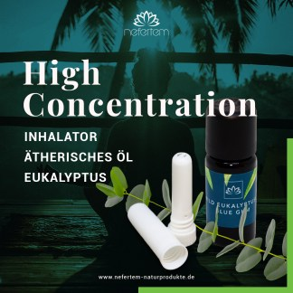 High Concentration, Set, Eukalyptus, Limette, Lemongras, Inhalator, naturrein, ätherische Öle, Aromatherapie, alternativ, Konzentration
