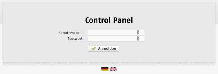Root-Server Control Panel