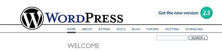 wordpress 2.3