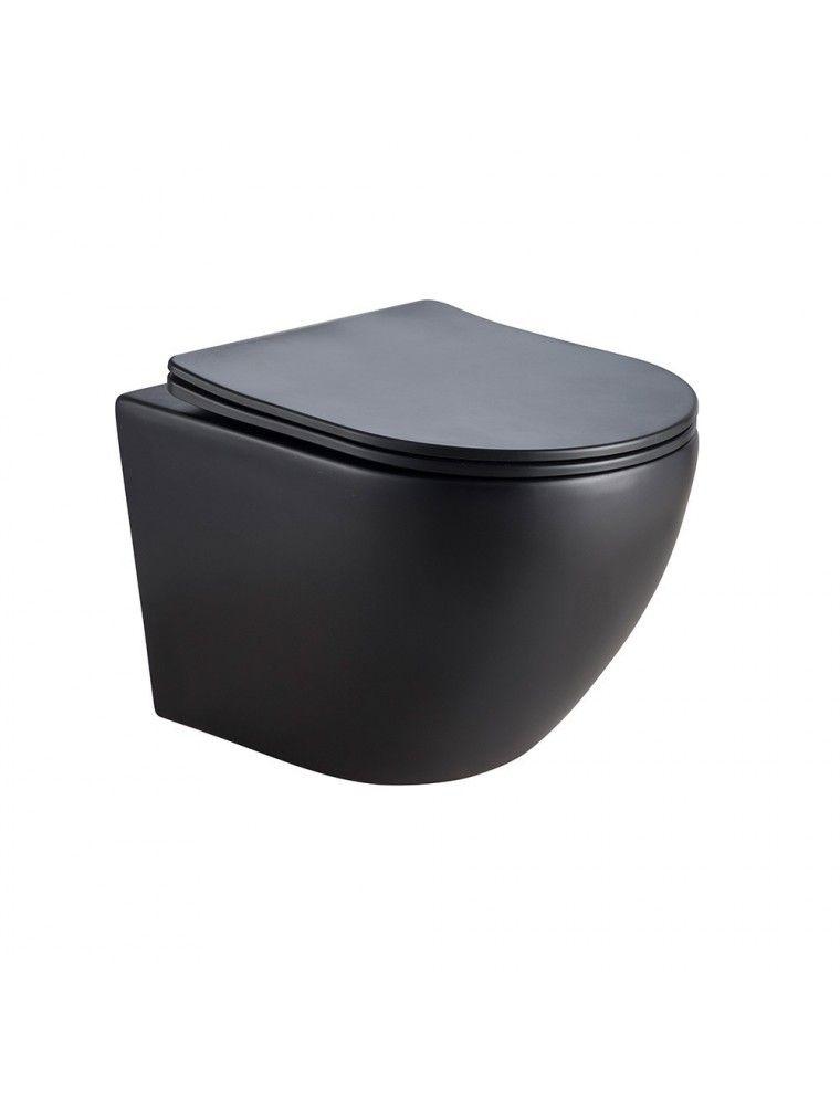 wc suspendu sans bride noir