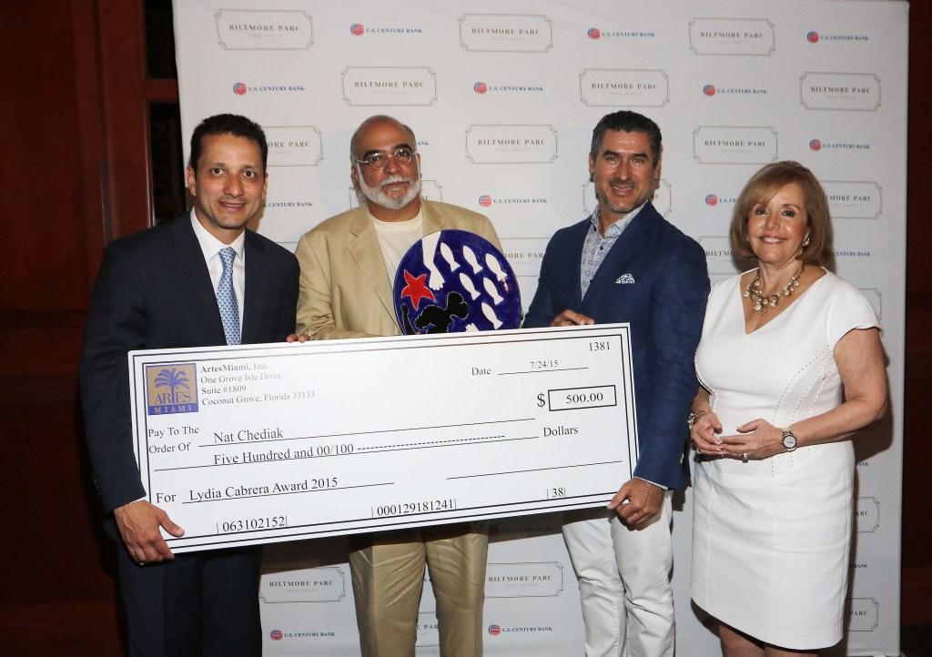 Carlos J. Davila, Nat Chediak, Alirio Torrealba and Aida Levitan