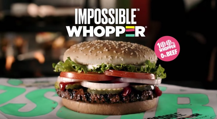 "BURGER KING VENDERÁ HAMBURGUESA VEGANA ""IMPOSSIBLE WHOPPER"" EN TODO EL PAÍS"