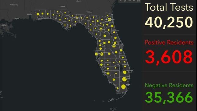 CORONAVIRUS: YA HAY 8.000 CASOS EN FLORIDA Y CONFIRMAN 128 MUERTES EN EL ESTADO