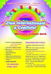 Afis Ziua Copilului 2016