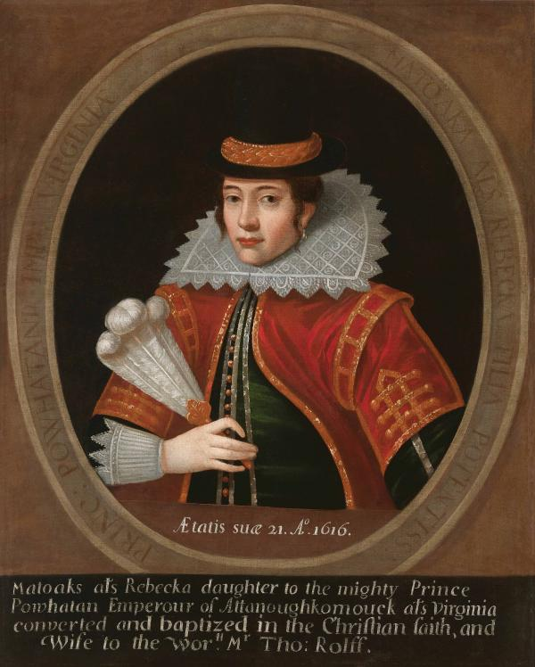 Portrait of Pocahontas by Simon van de Passe