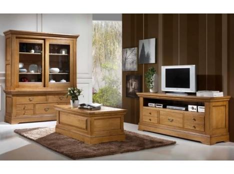 meuble tv chene massif classique