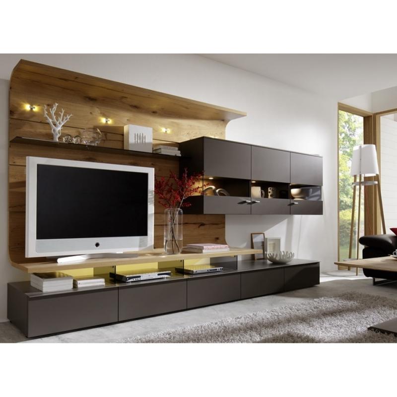 concept tv modulable bois et laque mat