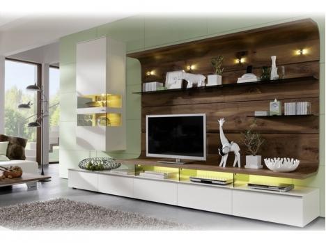 meuble tv modulable haut de gamme bois