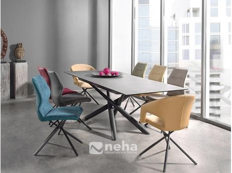 table rectangulaire avec allonge centrale