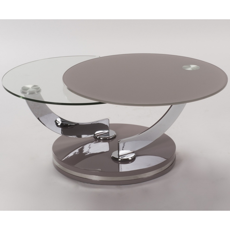 table salon verre design 2 plateau