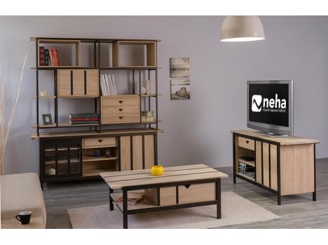 table basse inspiration loft industriel