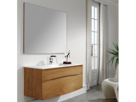 meuble salle de bain bois l120cm double vasque