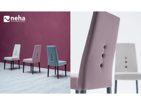 magasin chaise tissu moderne grand