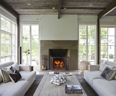 Family room in Darien, Connecticut, by Beinfield Architecture. Photo from beinfield.com