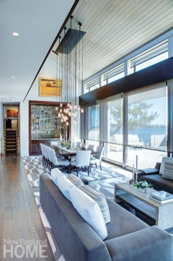 Technology and beautygo hand in hand in a Westport home, designed by Laura Kaehler Architects with interiors by Robin Liotta of HB Home, where a Savant integrated control system takes care of lights, media, security, climate, and window shades.