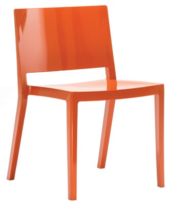 Pierro Lissoni's ultra-sleek, minimalist Lizz chair for Kartell is made in one single piece of gas-blowing technology. With its square contours, wide seat, roomy back and bright color, it's as stable and scratch-resistant as it is colorful. $285. KARTELL, BOSTON, (617) 782-4442, KARTELL.IT