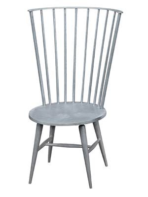 "A modern take on tradition, the Lyla side chair is reminiscent of a Windsor chair but with a twist. It's made of cast aluminum with a semi polished finish. 25""W X 23.5""D X 41.25""H. $1,450. SIMPLY HOME, FALMOUTH, MAINE, (207) 781-5651, www.SIMPLYHOMEPAGE.COM"