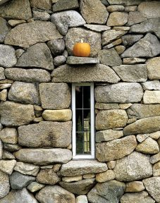 French gave a Chilmark bed and breakfast a quirky little leaded-glass window.
