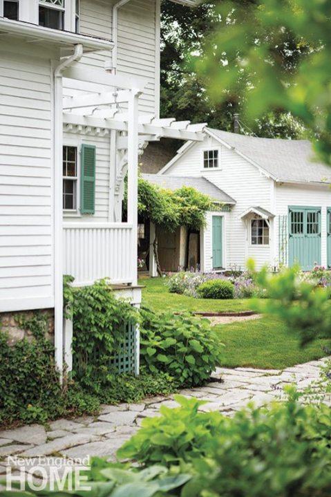 Historic Concord Home stone driveway