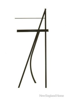 Folding Music Stand (1971), John Scofield, black lacquer over oak