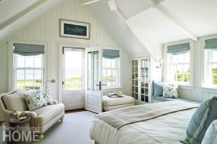 A master-bedroom window seat covered in a dreamy Peter Fasano fabric makes an additional perch for reading or resting.