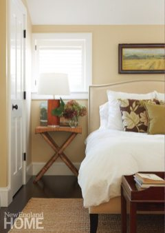 The master bedroom is casual, yet plush.