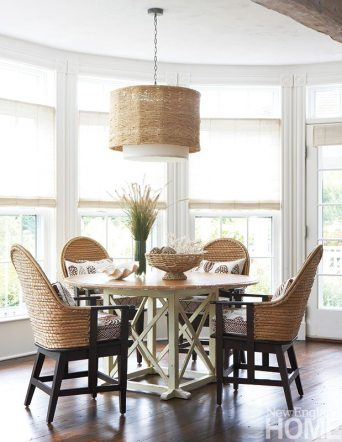 Her clients questioned the idea of a round table in a sunny niche in the living room, the designer recalls. No surprise-it's become favorite spot to check emails or work on a jigsaw puzzle.