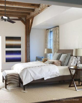 The master bedroom is all architecture and serenity.